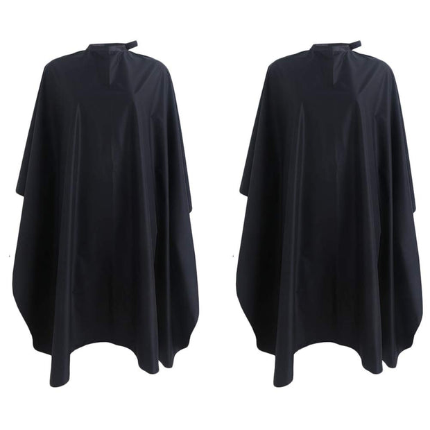 PETW 59x47inch Professional Salon Cape with Snap Closure Waterproof Nylon Hair Salon Cutting Cape Barber Hairdressing Cape Home Stylists Cutting Apron Solid Black (10 Pack)