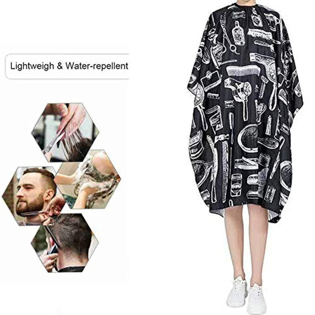 PETW 2/4/6/8 PCS Barber Cape Gown Hairdressing Capes Waterproof Haircut Salon Nylon Cape Hairdresser Apron Lightweight for Salons (6 pack)