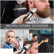 PETW Electric Hair Clippers for Men, Rechargeable Hair Trimmer Beard Trimmer Cordless IPX7 Waterproof Lightweight with 3 Degree Length Adjustments and 4 Guide Combs for Professional Household Haircut