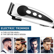 PETW Professional Hair Clipper for Men, Electric Hair Trimmer, Household Low Noise Haircut, Men Shaving Machine Hair Styling Tool (silver)