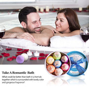 PETW Bath Bombs, 7 Pcs Fizzies Spa Kit Perfect for Moisturizing Skin, Birthday Valentines Mothers Day Anniversary Christmas Best Gifts Idea for Women, Mom, Her, Kids