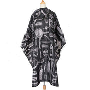 PETW Waterproof Hair Styling Cape Salon Apron for Barber Hairdressing Gown Cloth Cutting Cape Cover with Snap Closure (Design02)