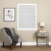 "PETW Cordless 1-2-3 Vinyl Room Darkening Pleated Window Shade, 48"" x 75"", White"