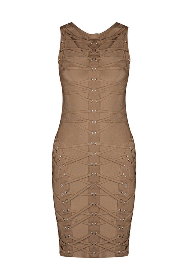 Sleeveless O Neck Bodycon Mini Dress