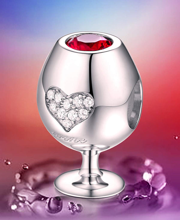Wine Glass Charm Sterling Silver