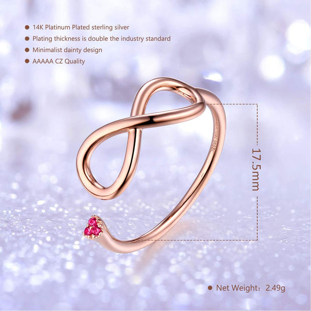 infinity mathematical symbol Adjustable Ring Sterling Silver