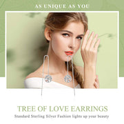 Tree of Life 925 Sterling Silver Hoop Earrings