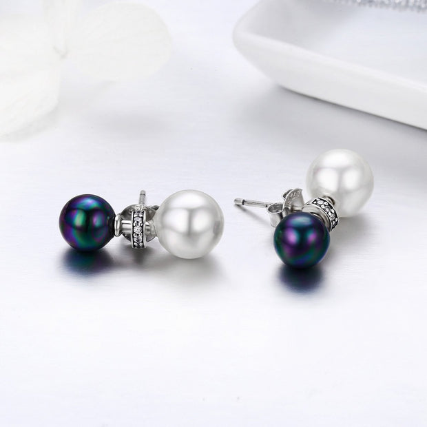 Pearl Earrings Sterling Silver Pearl