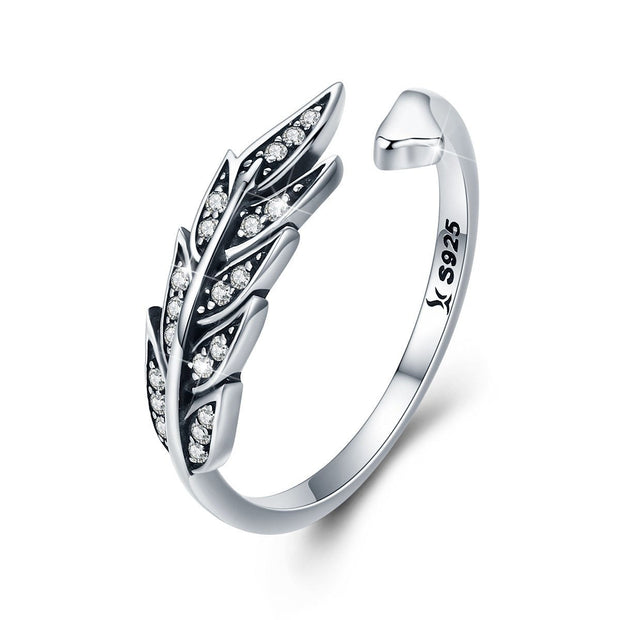 Feather Open Ring Sterling Silver