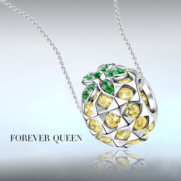 Pineapple Charm 925 Sterling Silver
