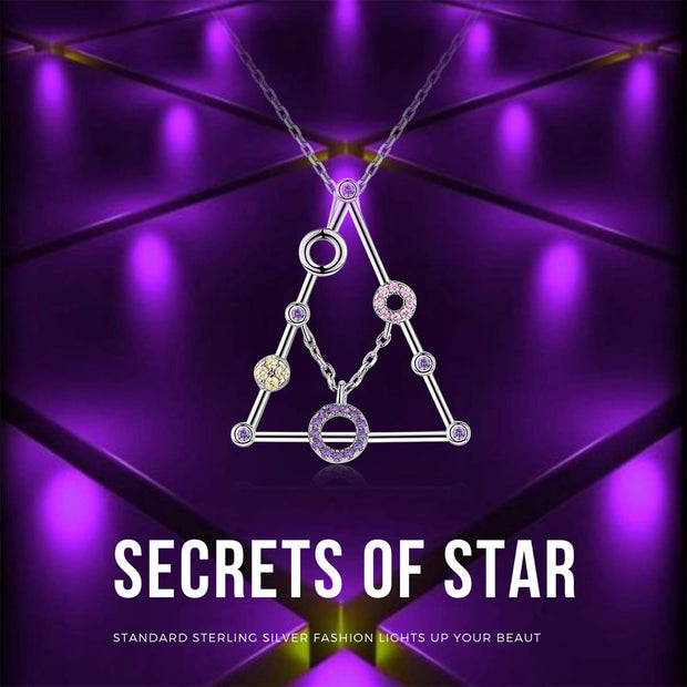 Secrets of Star Triangle Pendant Necklace Sterling Silver