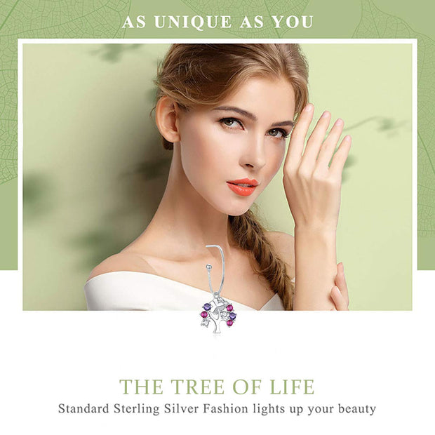 Tree of Life Earrings 925 Sterling Silver