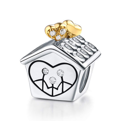 Home Is Where the Heart Is Charm Sterling Silver