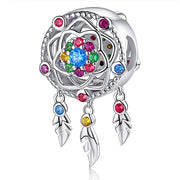 Dream Catcher Charm Sterling Silver