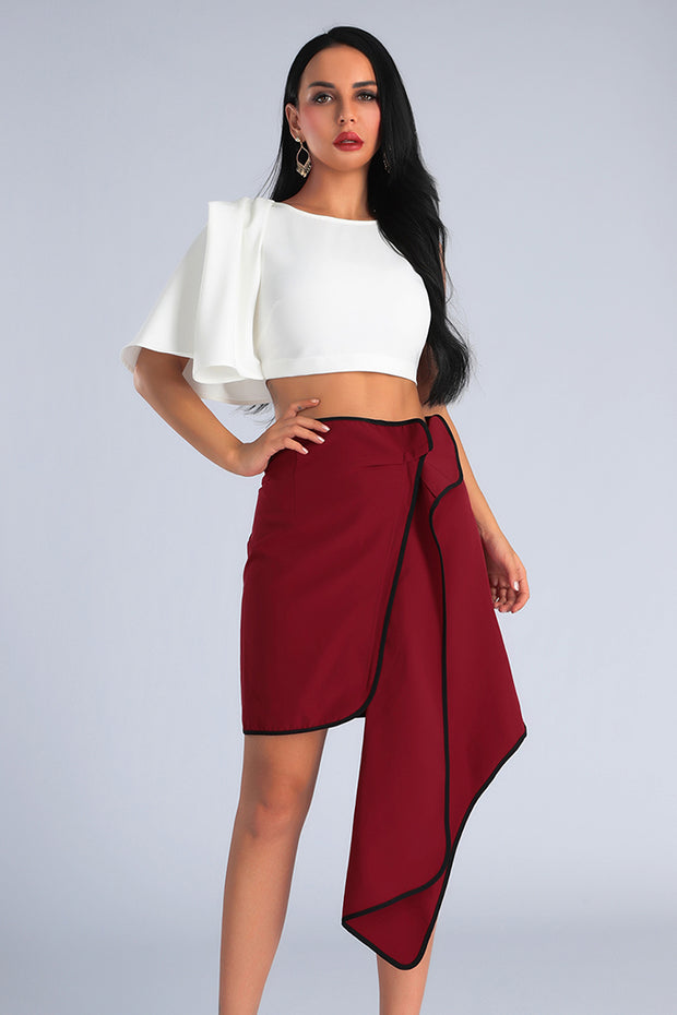 Asymmetrical Cutting Two-Piece Set