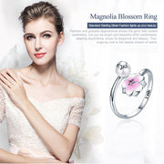 Magnolia Bloom Open Ring Sterling Silver