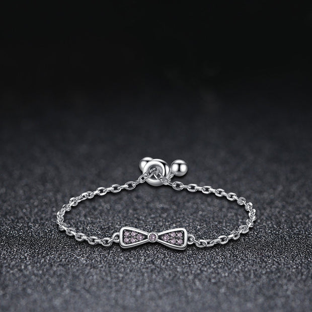 Bowknot Adjustable Ring Sterling Silver