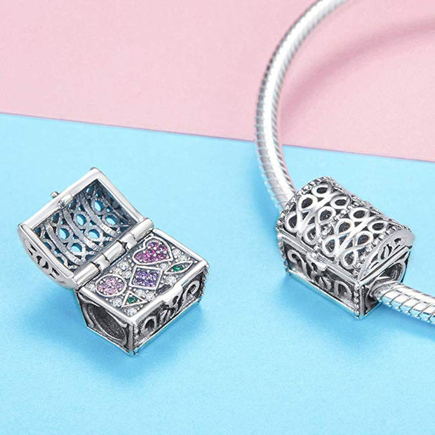 Treasure Chest Charm Sterling Silver