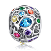 Rainbow Openwork Beads 925 Sterling Silver