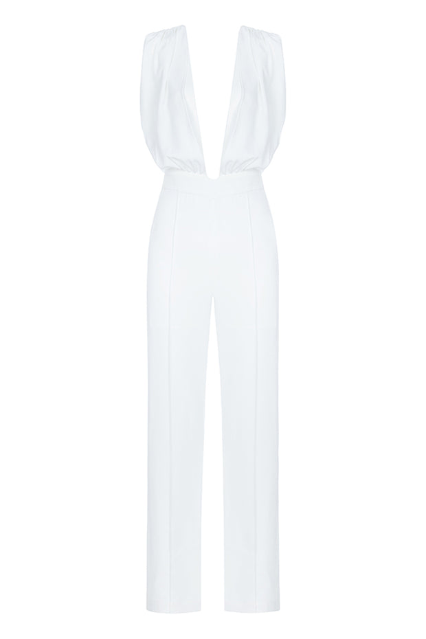 White Sexy Jumpsuit