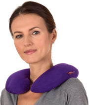 PETW Microwavable Heated Neck Pillow: Large Heat Therapy Pad for Sore Neck & Shoulder Muscle - Microwavable Thermal Pad - Easy Strap for Therapy - Large Heating Pad for Shoulder Pain & Neck Relief (Purple)