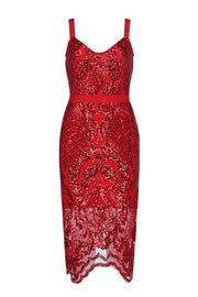 Spaghetti Strap Sequined Bandage Bodycon Dress