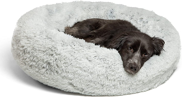 PETW The Original Calming Shag Vegan Fur Donut Cuddler (Multiple Sizes)