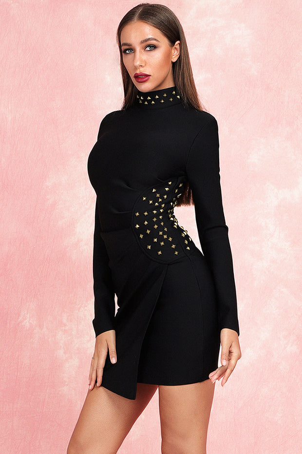 Elly Rivet Mini Dress