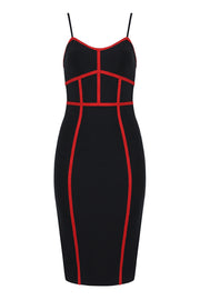 Colorblock Bandage Midi Dress