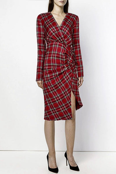 Long Sleeve Dress - Red