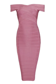 Criss-Cross Midi Bandage Dress