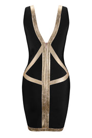 Strap V Neck Mini Dress
