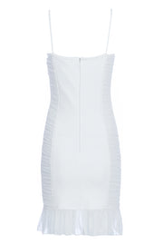 Alyssa Sling Wrinkle Dress-White