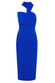 Athena Halter Cut Out Dress-Blue
