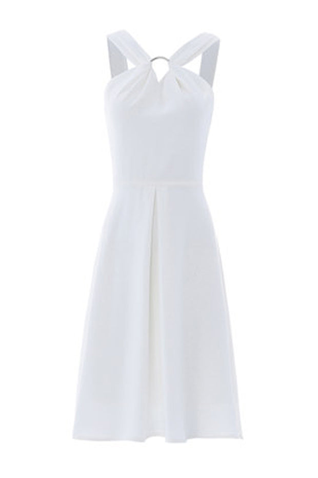 Halter Mini Dress -White