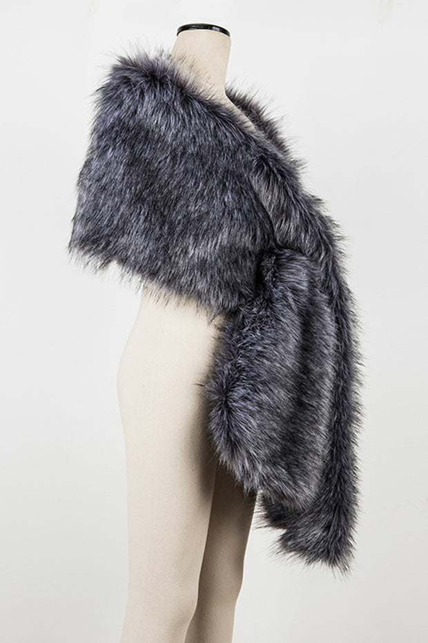 Fox Fur Cape -Gray