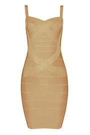 Solid Color Bodycon Bandage Midi Dress