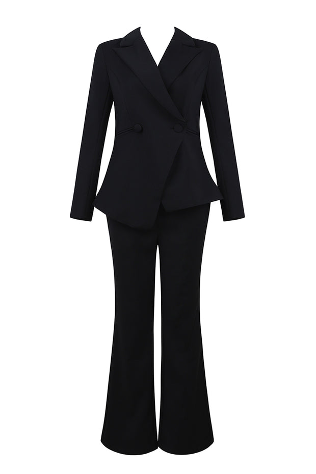 Oversized Blazer Wide Leg Pant Suit