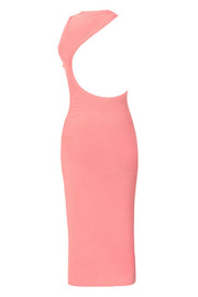 Sexy Pink Sleeveless Backless Bodycon Dress