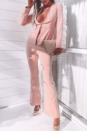 Davina Ruffles Sleeve Two Piece Set
