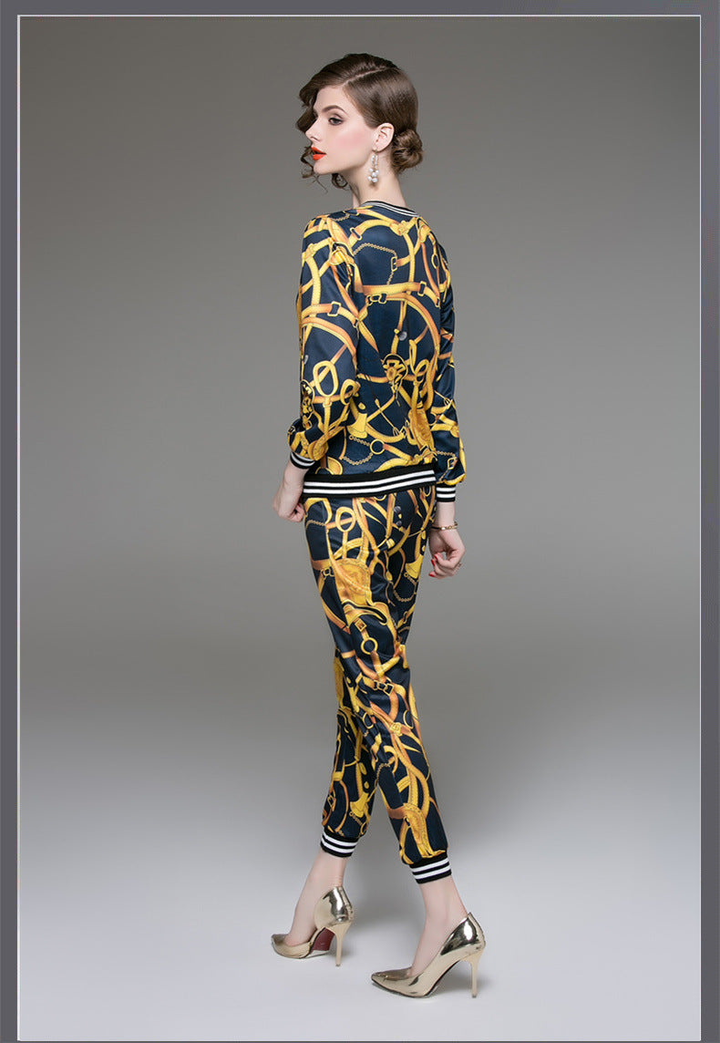 0b3e729a3c 'Gold Chains' Women's 2pc Jacket and Pant Set