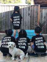Kids Size Asian Squat Social Club TSHIRT