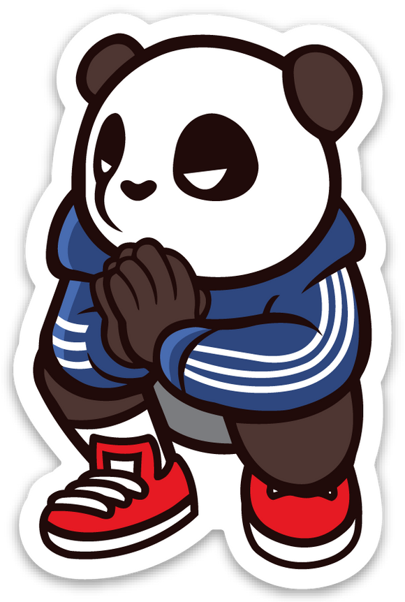 Pando the Squat God. Sticker - Blessed