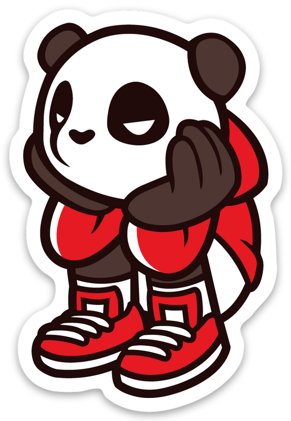 Pando the Squat God. Sticker - Bored