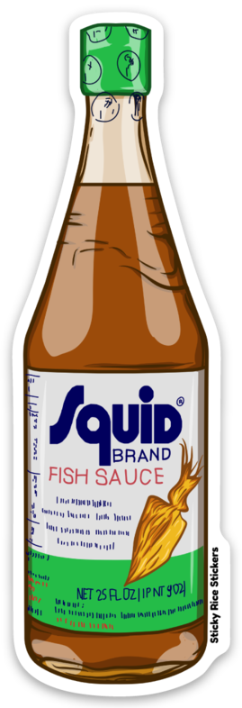 Squid Fish Sauce - Sticker