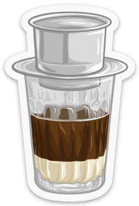 Vietnamese Coffee Ca Phe Sua Da - Sticker