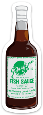 Patis Fish Sauce - Sticker