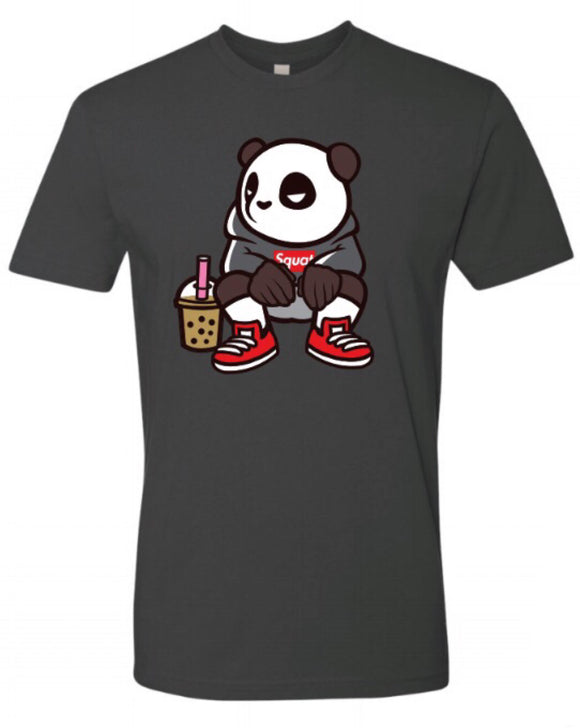 Squatting Panda - Heather Grey TSHIRT