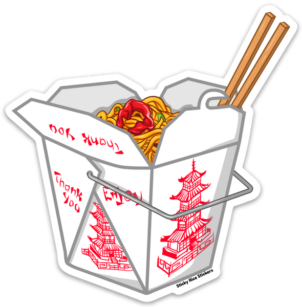 Chinese Food Togo Box - Sticker