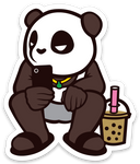 Pando the Squat God. Sticker - Chill Boba